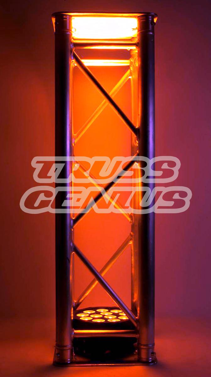 aluminum truss, truss totem, glow totem, led, truss warmer, global truss, truss genius