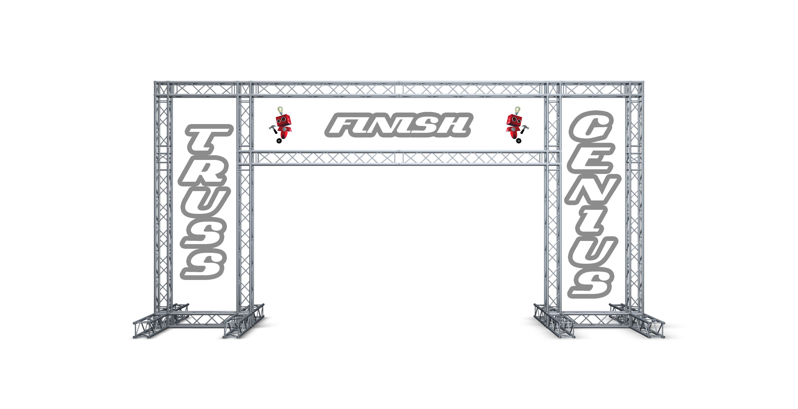 marathon finish line, truss finish line, global truss, milos, starting line, 5k run, aluminum truss, truss genius