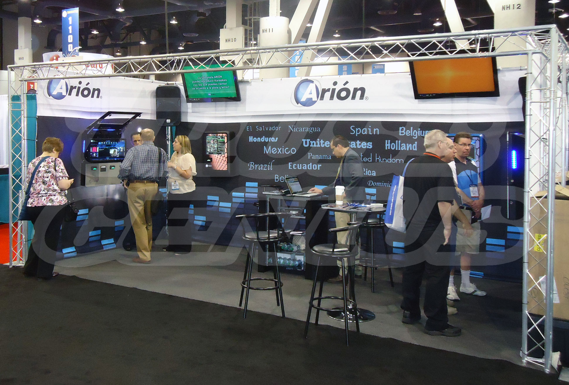 arion, amusement expo, las vegas, trade shows, truss genius, global truss, aluminum truss, triangular truss, f23 trussing, trade show booth, display, exhibit, mini truss
