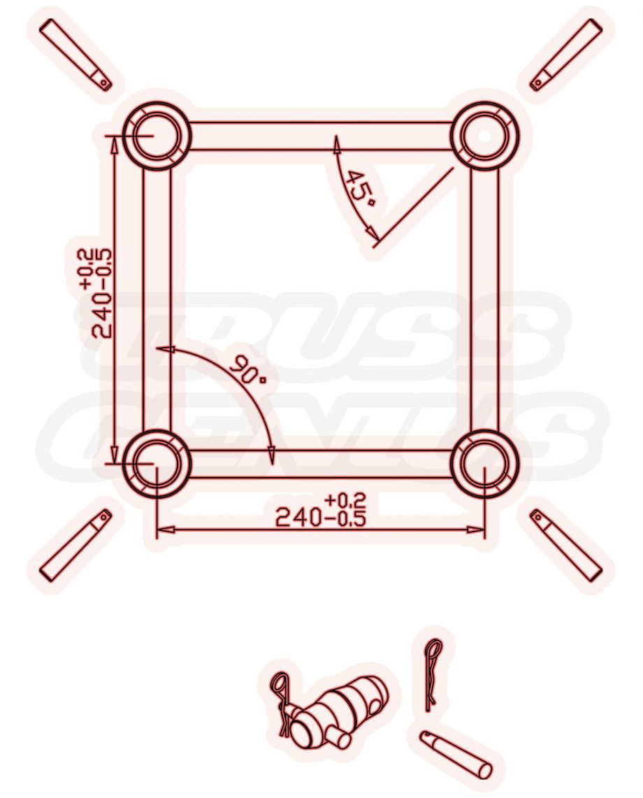 Global Truss F34 Dimensions