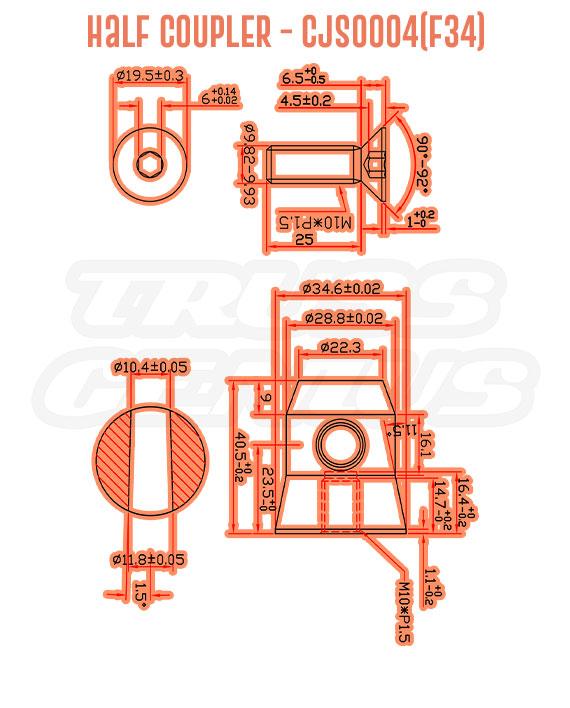 Half Coupler CJS0004(F34) Detail Callouts