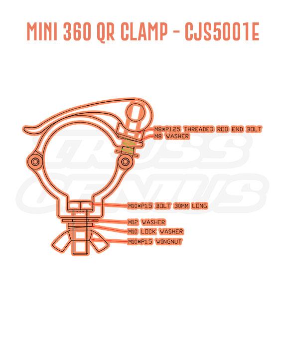Mini 360 QR Clamp CJS5001E Detail Callouts