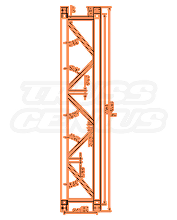 SQ-4111 Measurements F34 Square Truss