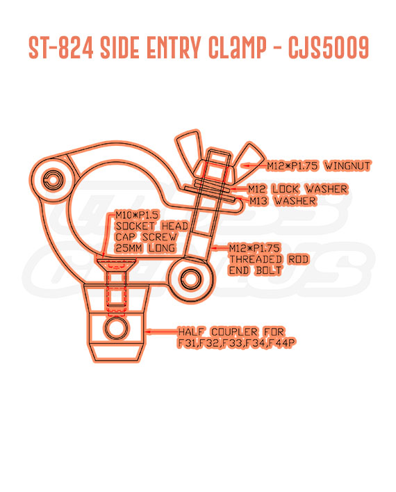 ST-824 Side Entry Clamp CJS5009 Detail Callouts