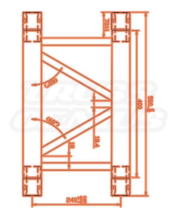 TR-4076 Dimensions F33 Triangular Truss