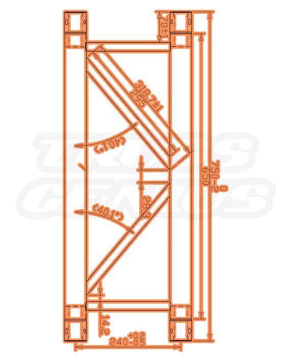 TR-4077-75 Dimensions F33 Triangle Truss