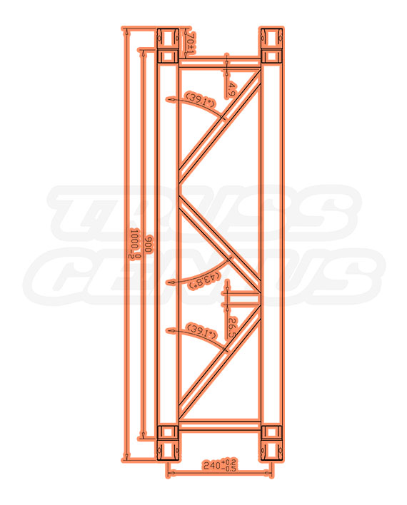 TR-4077 Dimensions F33 Triangular Truss