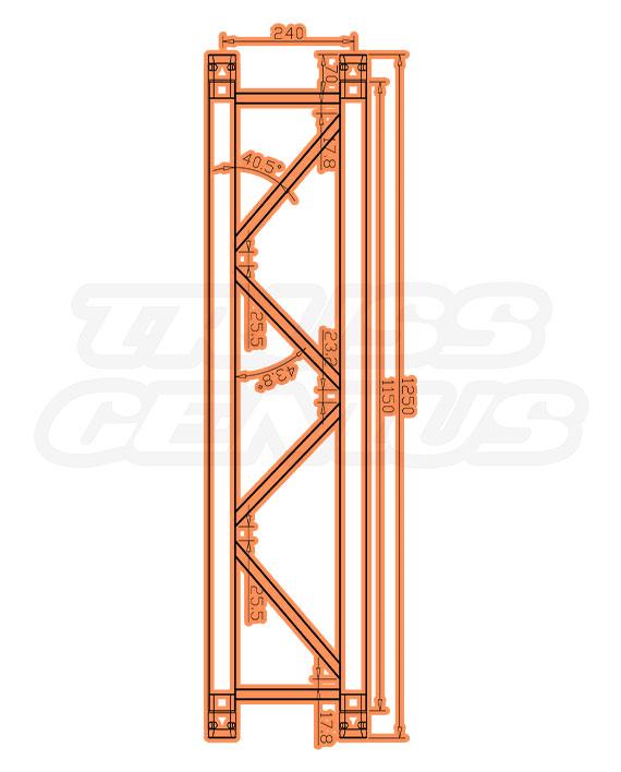 TR-4078-1250 Dimensions F33 Triangle Truss