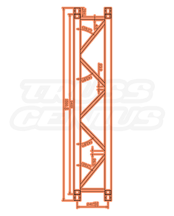 TR-4078 Dimensions F33 Triangular Truss