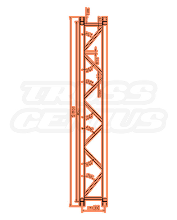 TR-4079 Dimensions F33 Triangular Truss