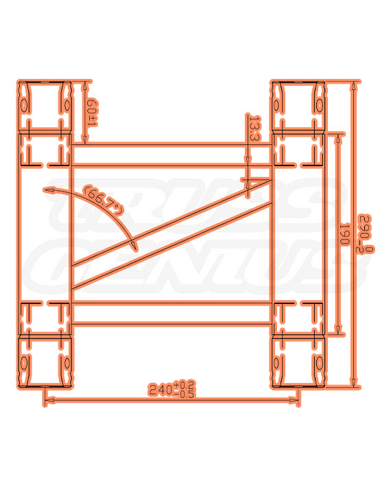 SQ-4109-29 Measurements F34 Square Trussing