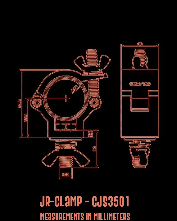 JR-Clamp CJS3501 Detailed Drawing