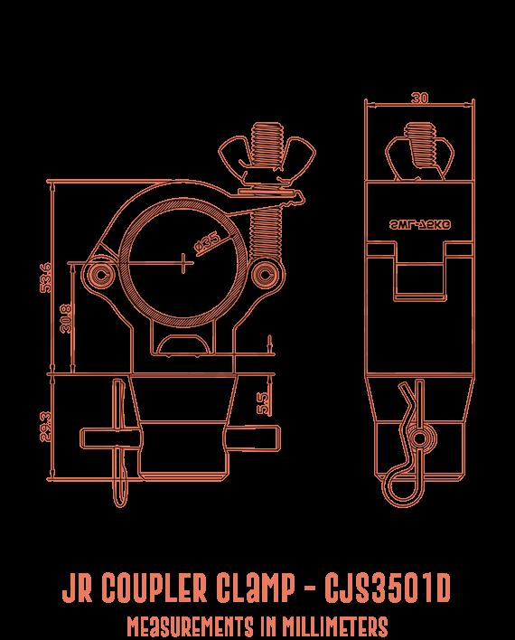 JR Coupler Clamp CJS3501D Detailed Drawing