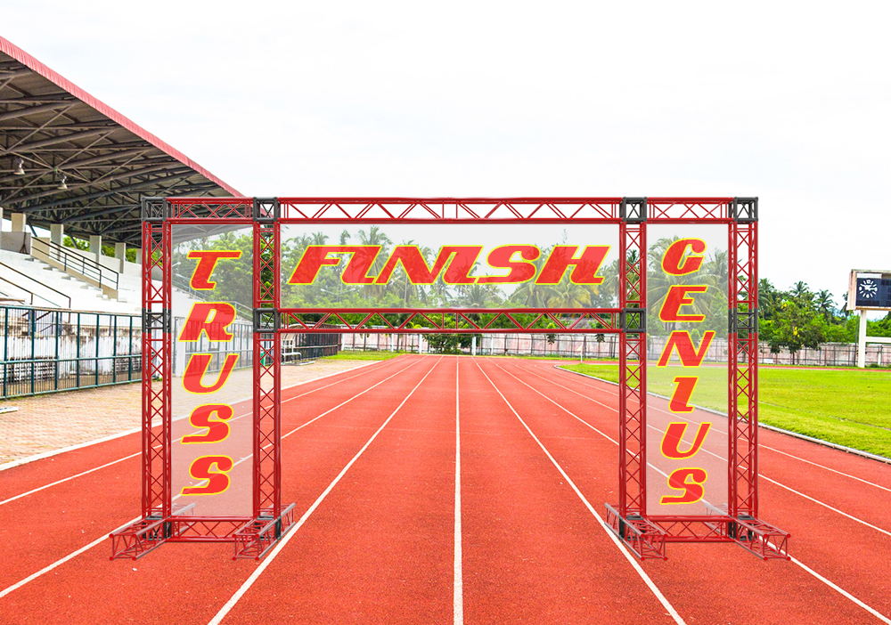 Finish Line Truss System, finish line, marathon finish line system, aluminum truss finish line, running finish line