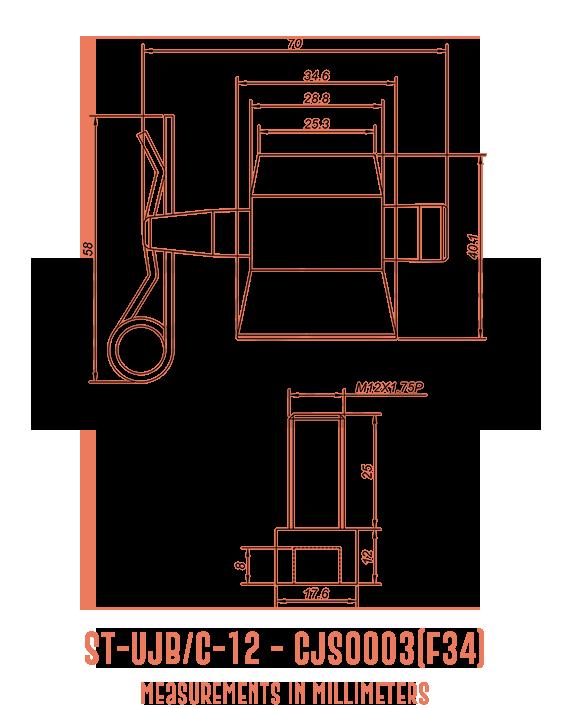 ST-UJB/C-12 CJS0003(F34) Detailed Drawing