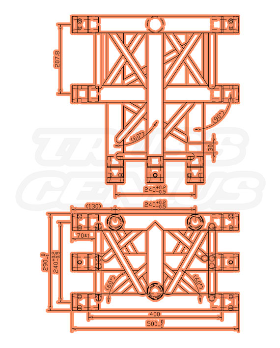 TR-4096-HI Dimensions F33 Triangular Truss