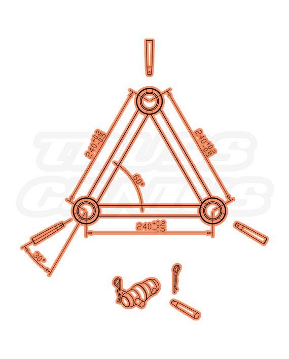 TR-4096-HI F33 Triangle Truss Measurements