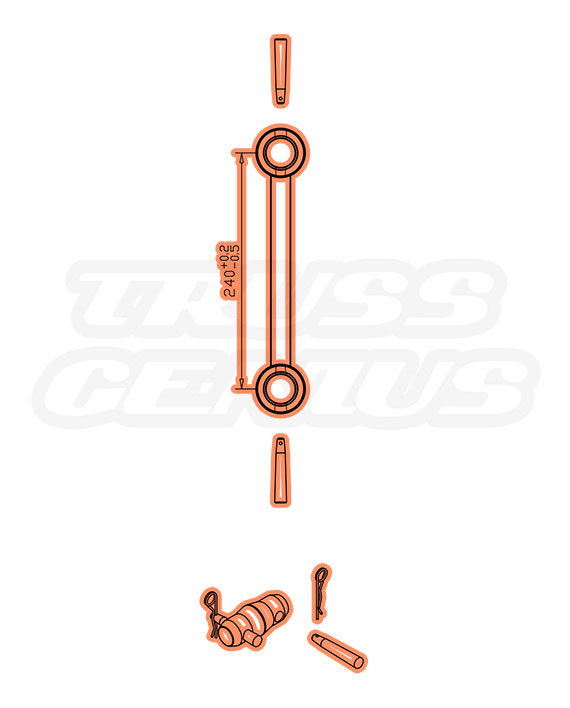 IB-4049-75 F32 I-Beam Truss Dimensions