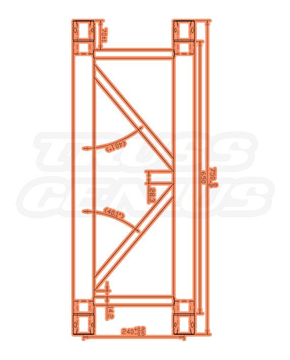 IB-4049-75 F32 I-Beam Trussing Measurements