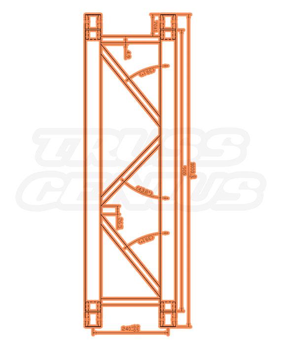 IB-4049 F32 I-Beam Trussing Measurements