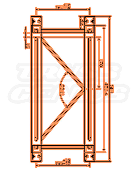 SQ-F24-50 F24 Square Truss Measurements