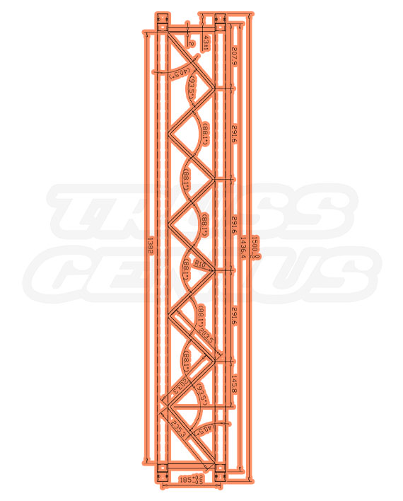 SQ-F24150 F24 Square Truss Measurements