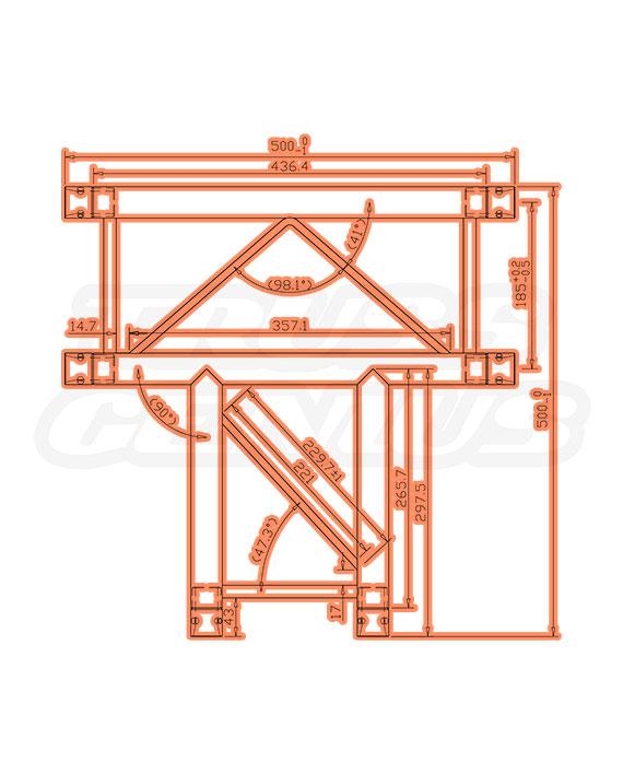 SQ-F24-C35 F24 Square Truss Measurements