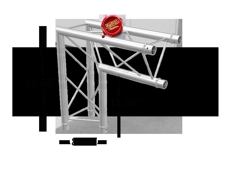 TR96112-25 F23 Triangular Aluminum Truss Dimension F23C25