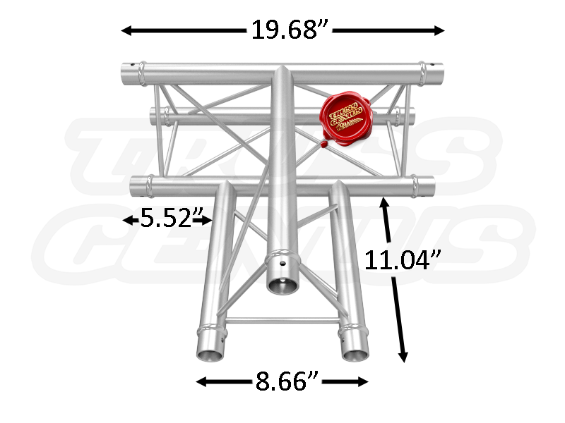 TR96119-36 F23 Triangular Aluminum Truss Dimension F23C36