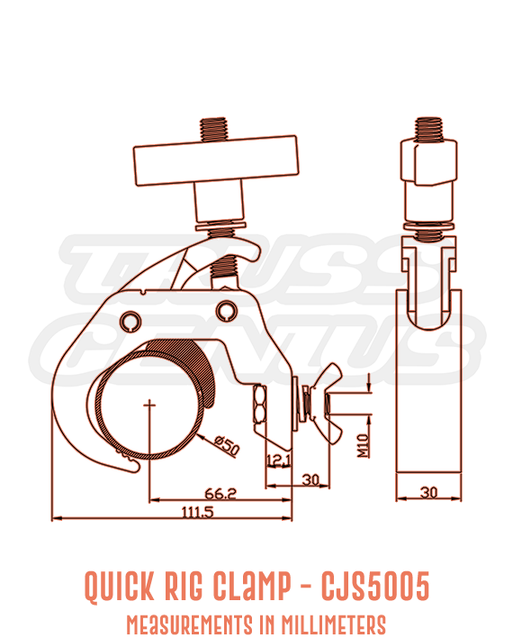 Quick Rig Clamp CJS5005 Detailed Drawing