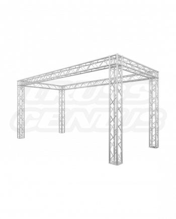 10' x 20' Truss Trade Show Booth - Re-Configurable F34 Square Truss Kit