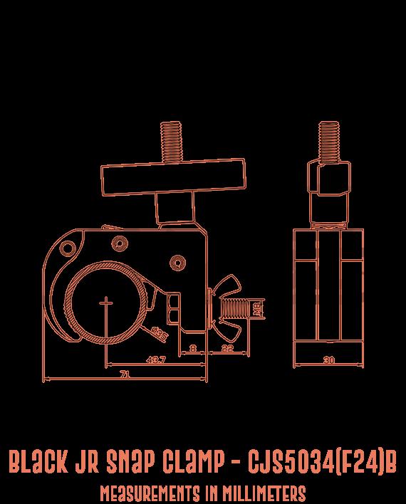 Black Jr Snap Clamp CJS5034(F24)B Detailed Drawing