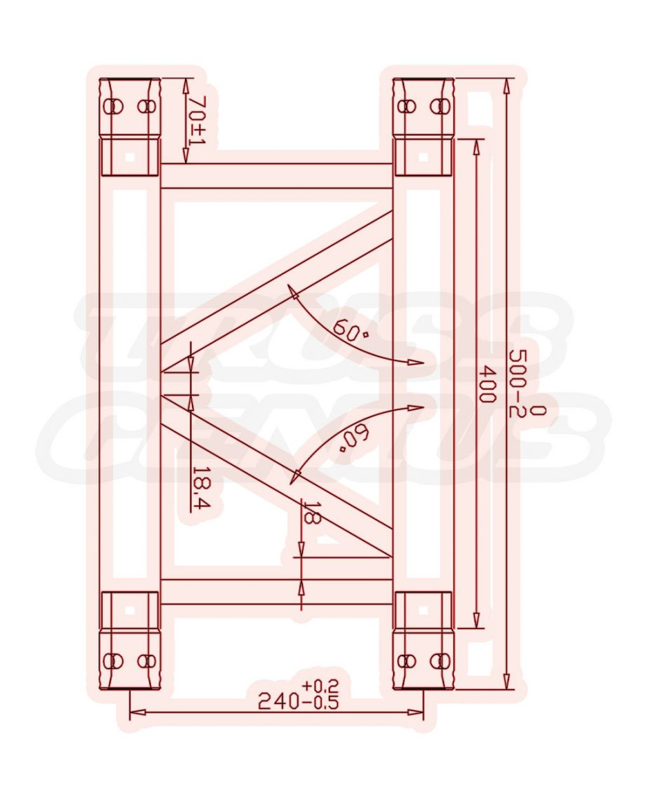 Global Truss SQ-4109 Black Measurements