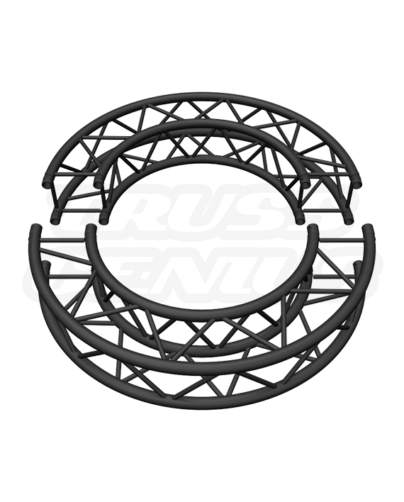 Matte Black 5-Foot Square Truss Circle