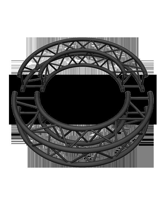 Matte Black 5-Foot Square Truss Circle