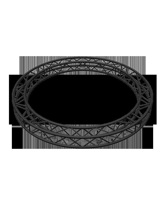 SQ-C3-90 Black %%sep%% Global Truss 9.84-Foot / 3-Meter Matte Black F34 Square Truss Circle