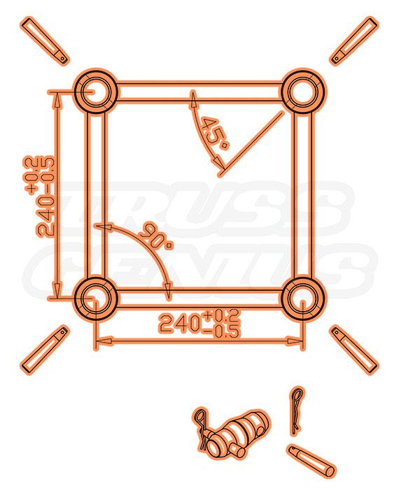 SQ-C1.5-180 Dimensions F34 Square Truss