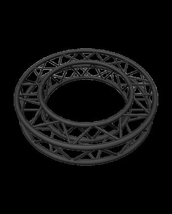 SQ-C1.5-180 Black Global Truss 4.92-Foot Matte Black F34 Square Truss Circle