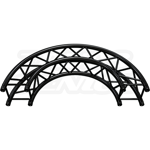 SQ-C1.5-180 Arc Matte Black F34 Square Truss Circle