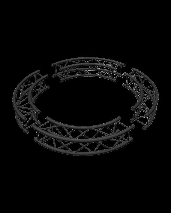 Matte Black 6-Foot Square Truss Circle