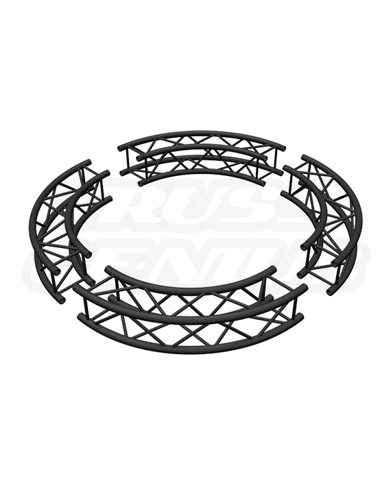 Matte Black 6-Foot Square Truss Circle