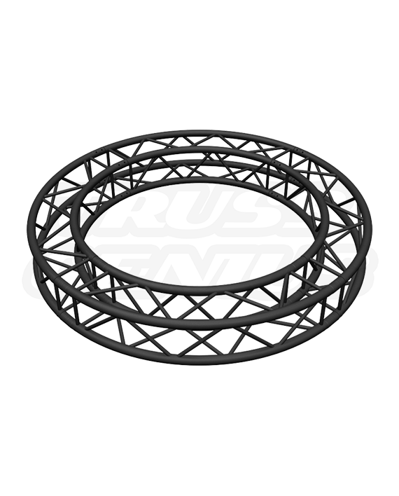 SQ-C2-90 Black %%sep%% Global Truss 6.56-Foot Matte Black F34 Square Truss Circle