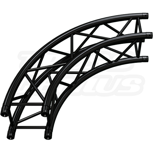 SQ-C2-90 Arc Matte Black F34 Square Truss Circle