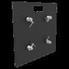 Base Plate 20x20A Matte Black Powder Coat