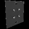 Base Plate 30x30A Matte Black Powder Coat