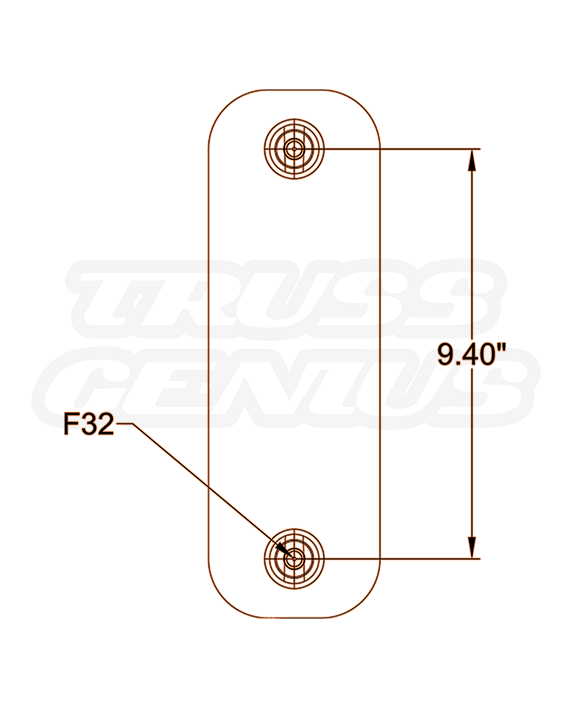 IB-4074 Base Plate Hole Pattern Dimensions
