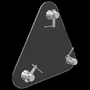 TR-4108 Matte Black Aluminum Base Plate