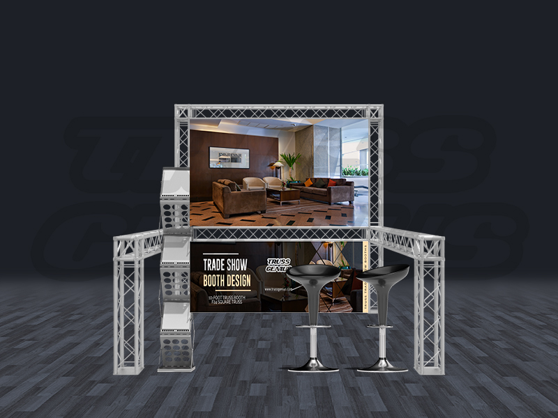 Trade Show Booth Equipment : Truss trade show booth modular f square