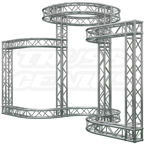 20 39 x 20 39 truss trade show booth center beam for for Order trusses online