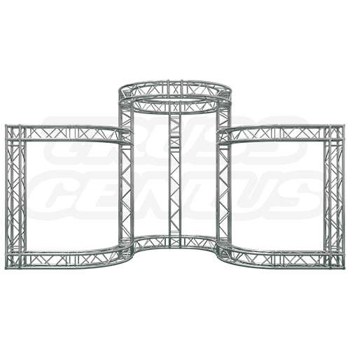 Trade Show Exhibit Display Booth 20x8 F34-701, Circular Truss Booth